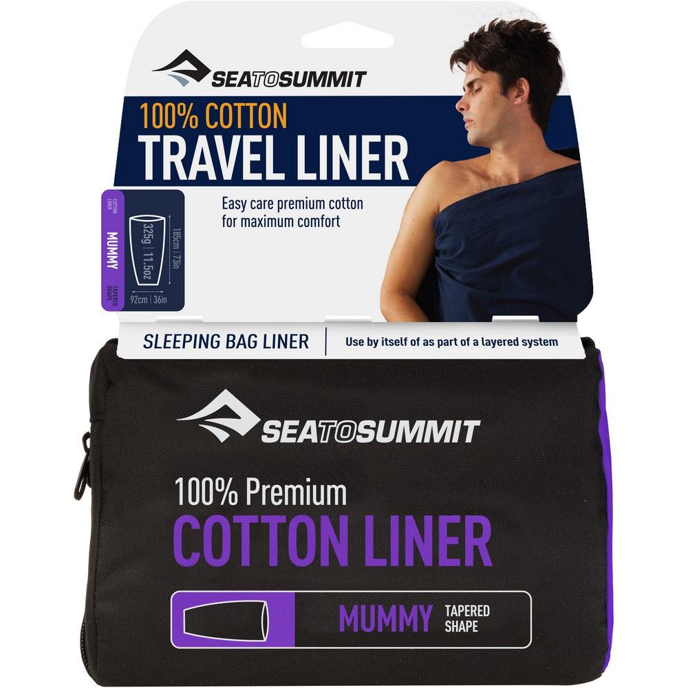 Premium Cotton Travel Liner - Saco de Dormir Trekking Sea to Summit