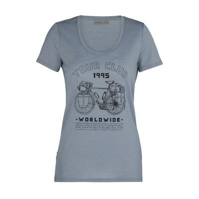 Tech Lite SS Scoop Tour Club 1995 Mujer - Camiseta Trekking Icebreaker