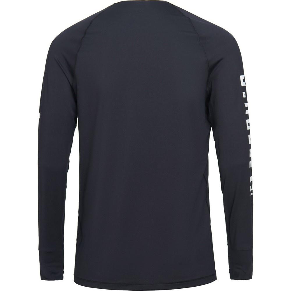 Spirit Crew Black Hombre - Camiseta Esquí Peak Performance