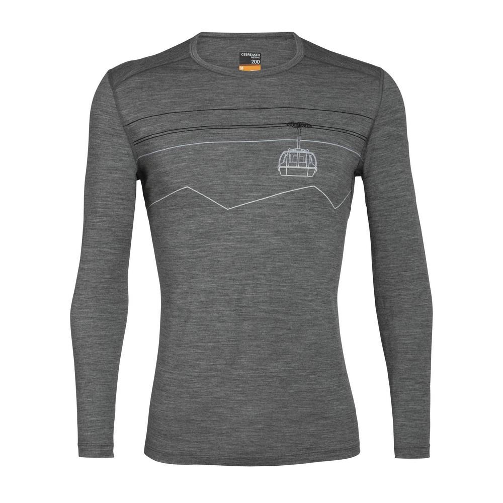 200 Oasis LS Crewe Peak to Peak Lift Hombre - Camiseta Trekking Icebreaker