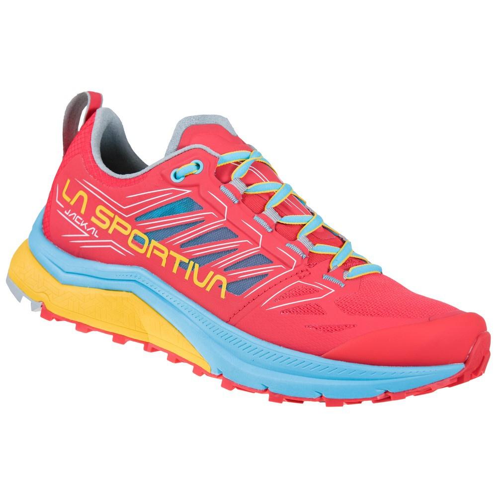 Jackal Hibiscus/Malibu Blue Mujer - Zapatillas Trail Running La Sportiva