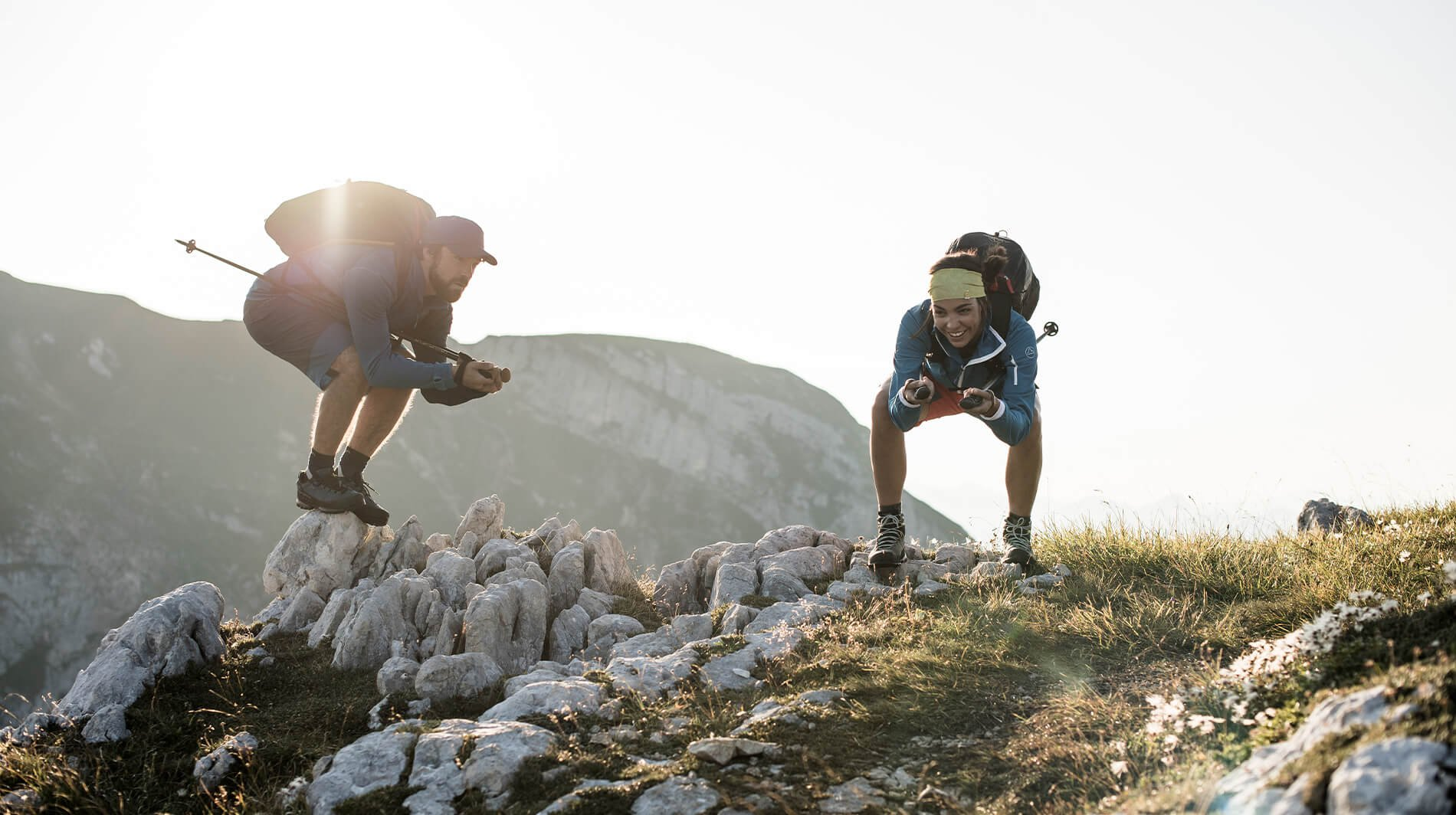 fast hiking scrambling trailrunning montaña