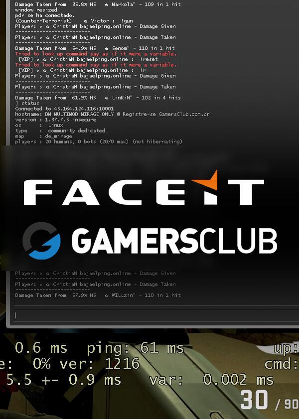 Counter Strike, Gamersclub, Faceit