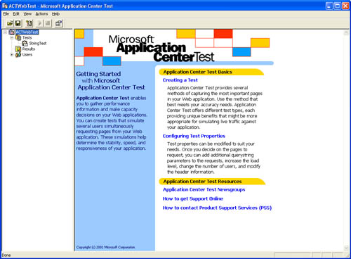 Microsoft Application Center Test Tool