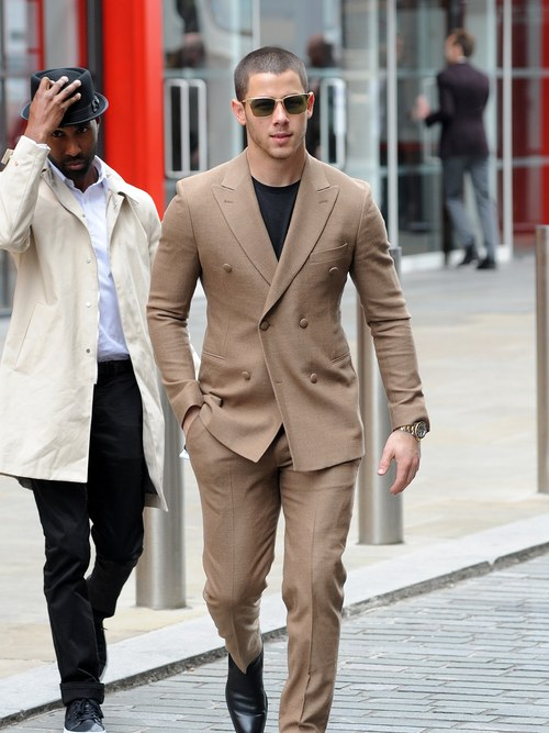 Nick Jonas wearing Stephen F in GQ Magazine