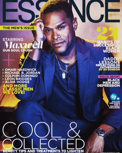 Maxwell cover of Essence Magazine