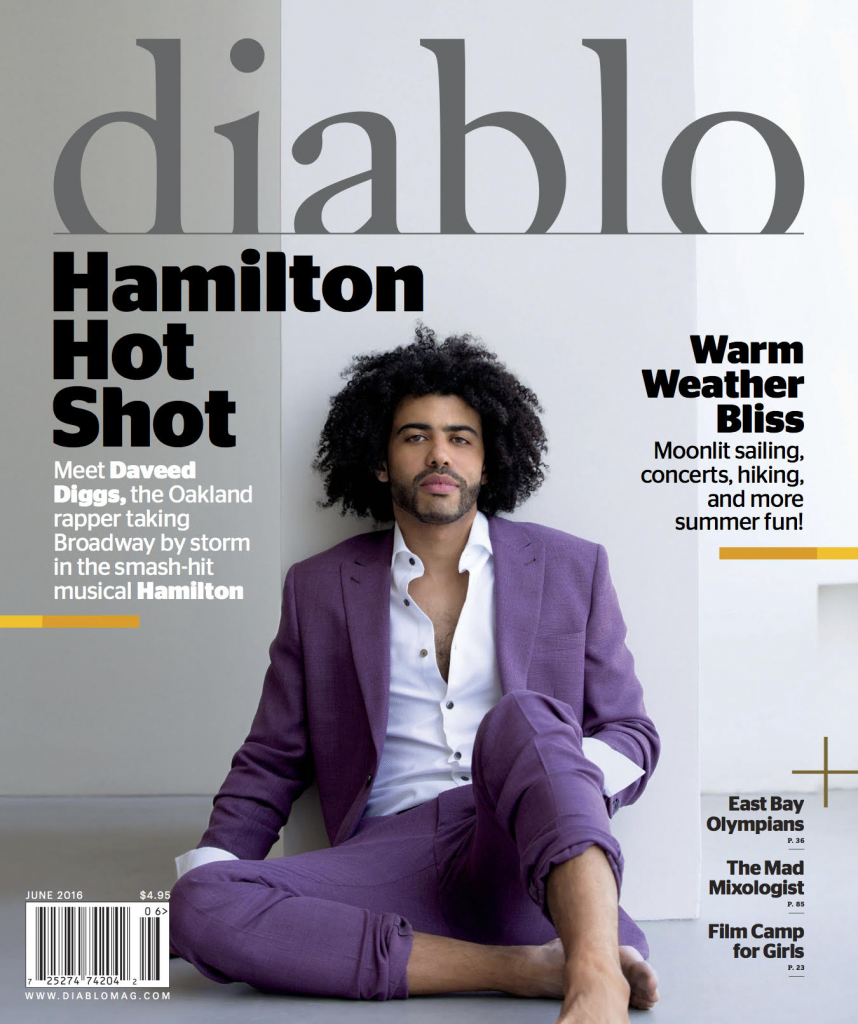 Daveed Diggs, magazine cover, Diablo, in stephen f