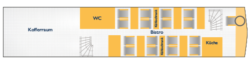 Sitzplan Bordbistro 4 Sterne Bistrobus