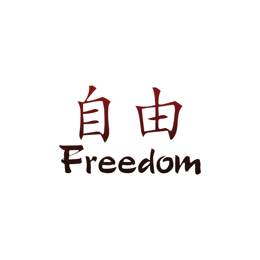 Freedom Chinese Symbols Decal Sticker Choose Pattern Size 2622 Ebay