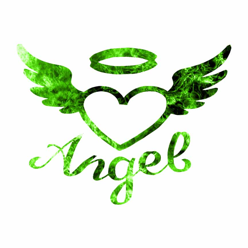 Angel Heart Wings Halo Decal Sticker Choose Pattern Size 2336 Ebay