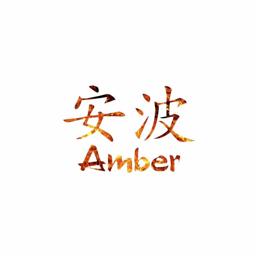 Chinese Symbol Amber Name Decal Sticker Choose Pattern Size 2031
