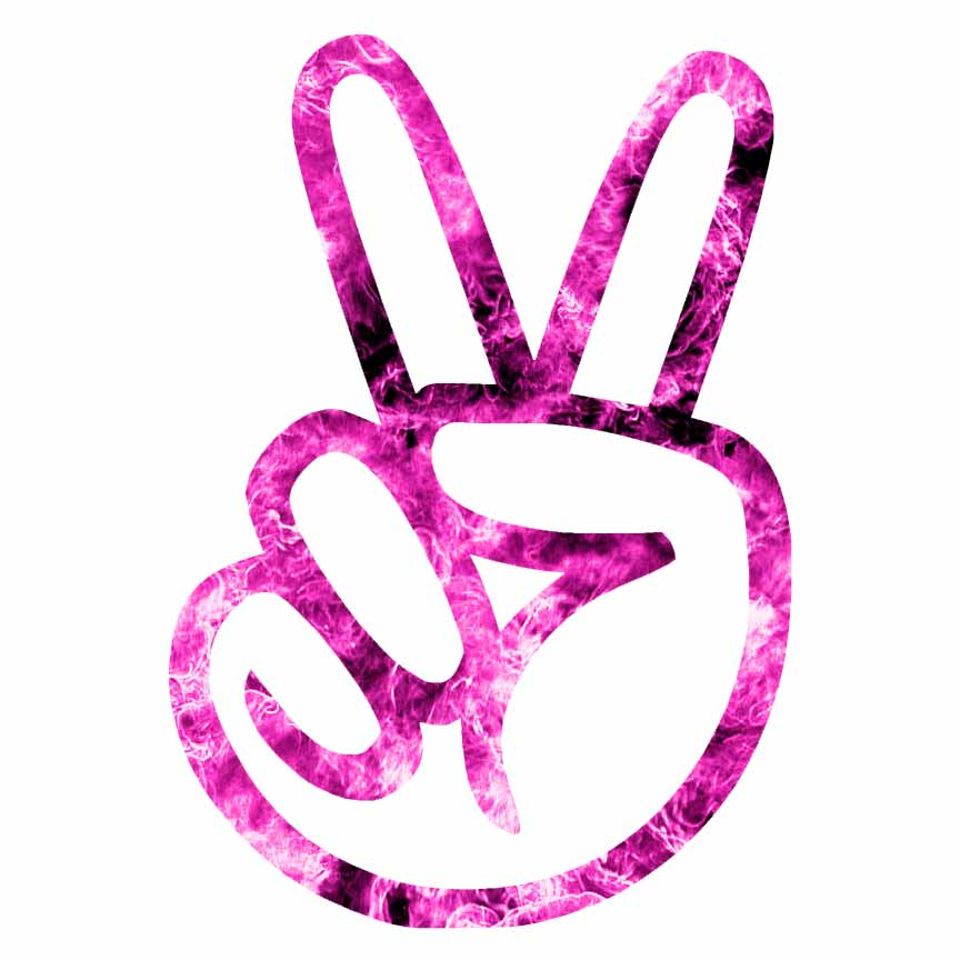 Peace Sign Hand Decal Sticker Choose Pattern Size 511 Ebay