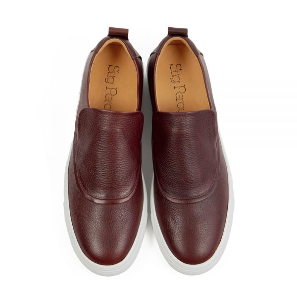 vegetable tanned leather sneakers with recycled rubber soles
