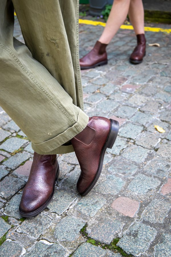 Goodyear welted brown Chelsea boots