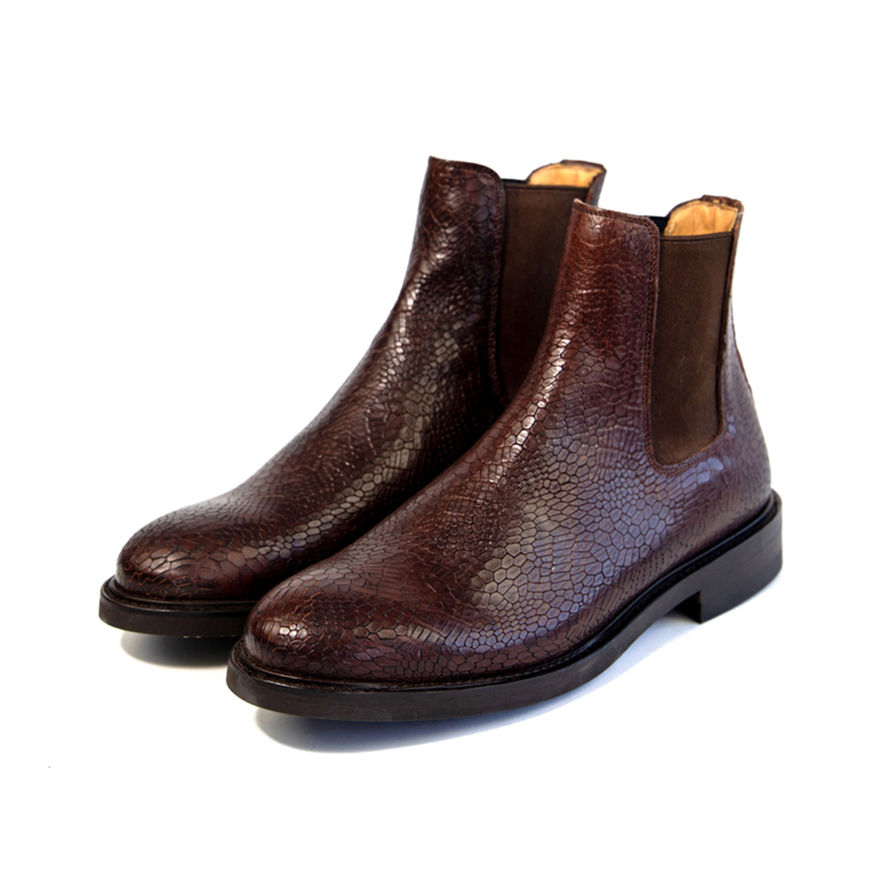 Brown Goodyear welted Chelsea boots