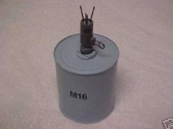 """G1    LOT OF 2   1//6 Anti-Personnel Mine """"Bouncing Betty"""" Model S-Mine Germany"""