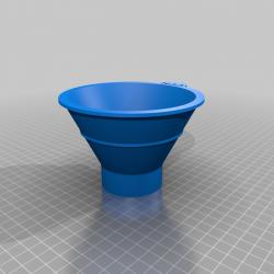 Funnel for Wide Mouth PET Bottles 3D Printed Common 34.7mm