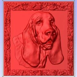 can be used for Laser, Plasma, or Waterjet Cutters and CNC Routers Basset Hound 3D Printable STL File