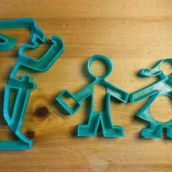 5 Witch/'s Shoes 3D Printed Cookie Cutter #P3008
