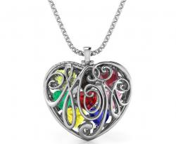 3D Printed Ribcage Heart Necklace