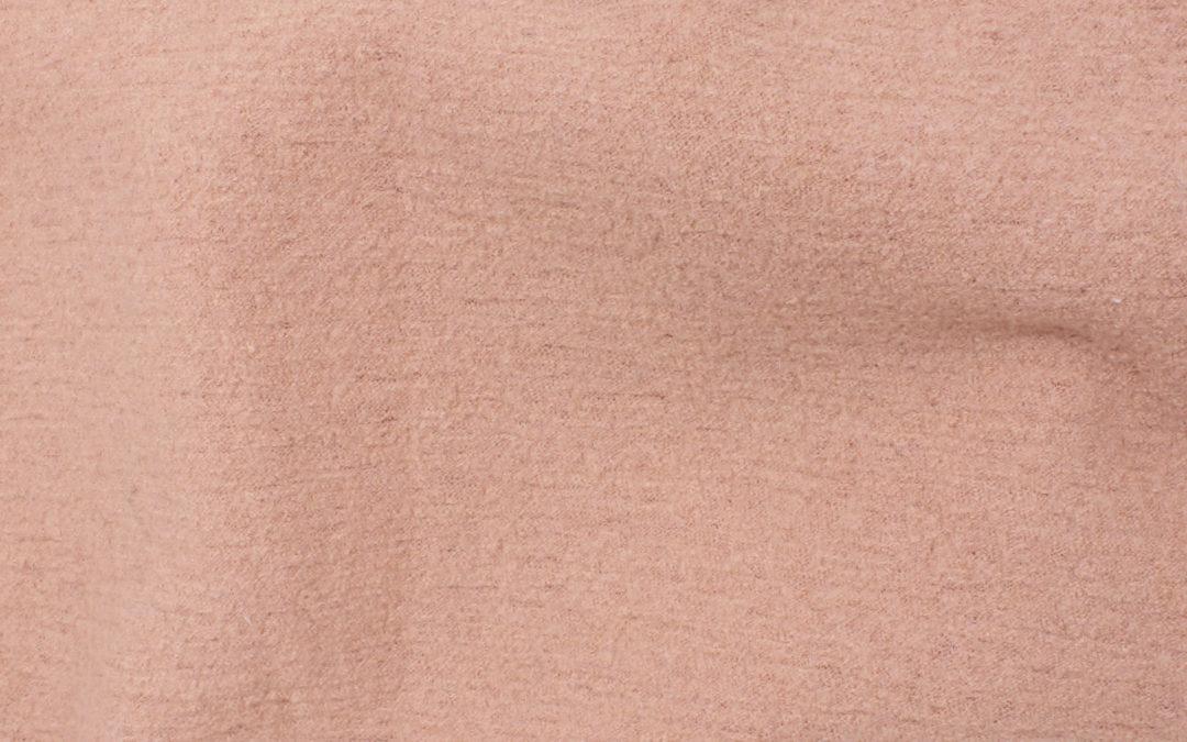 Boiled Wool/Viscose – Blush