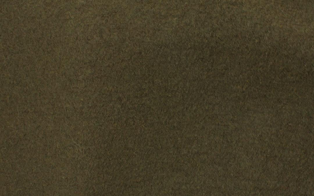 Boiled Wool/Viscose – Dark Olive