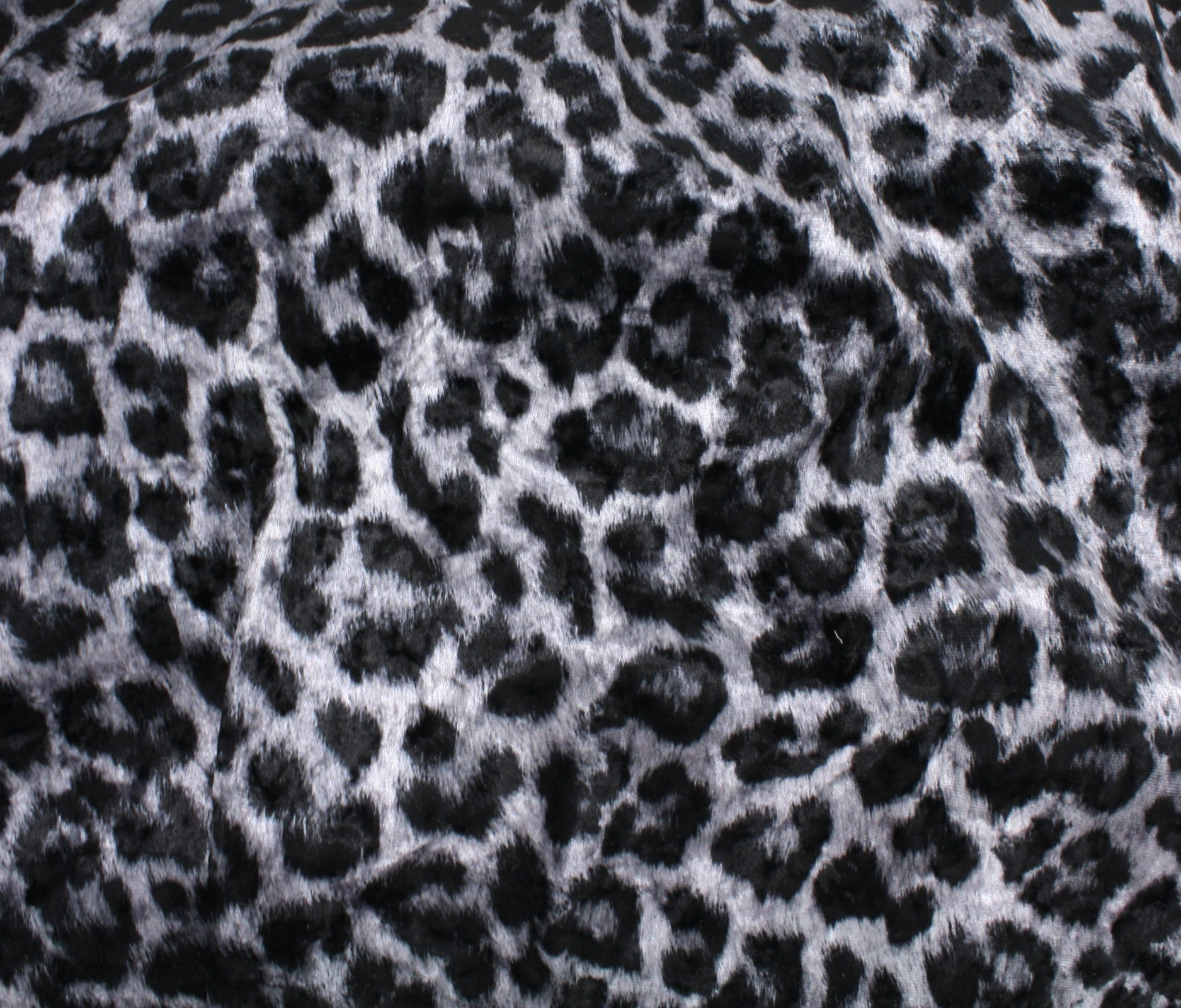 Children Fabric animal print Grey Leopard Print Cotton Elastane Printed Jersey