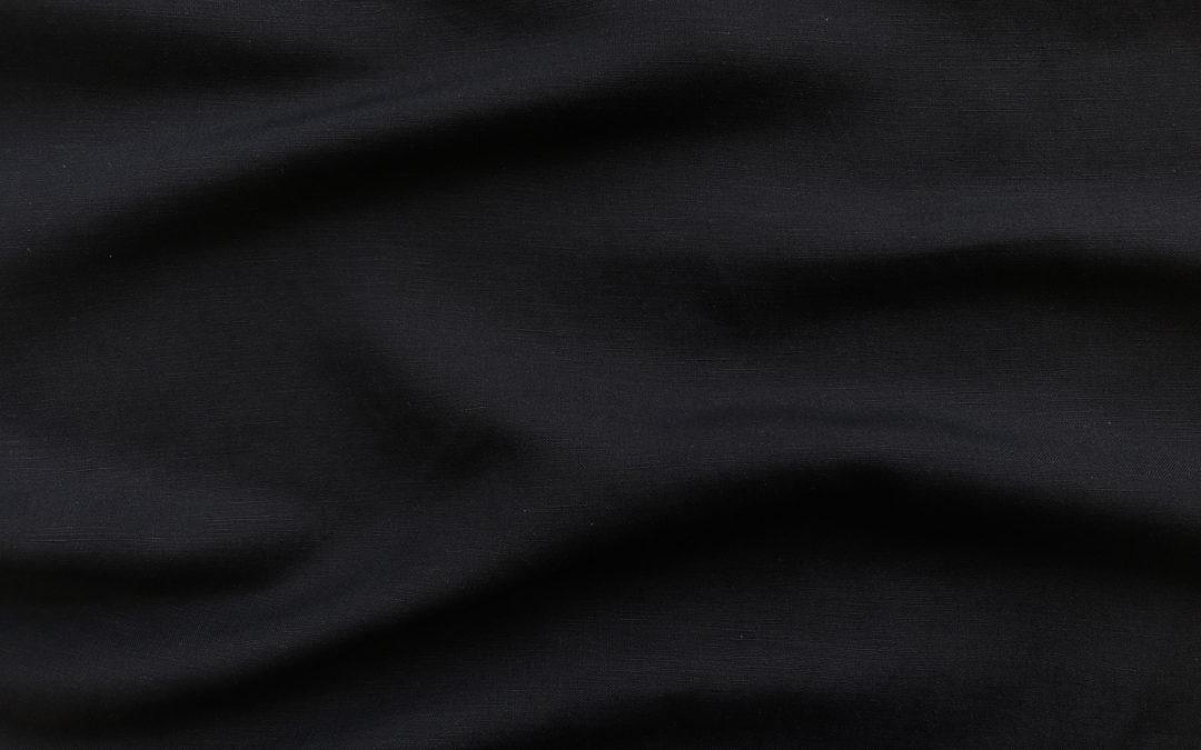 Silk/Linen Slub – Black