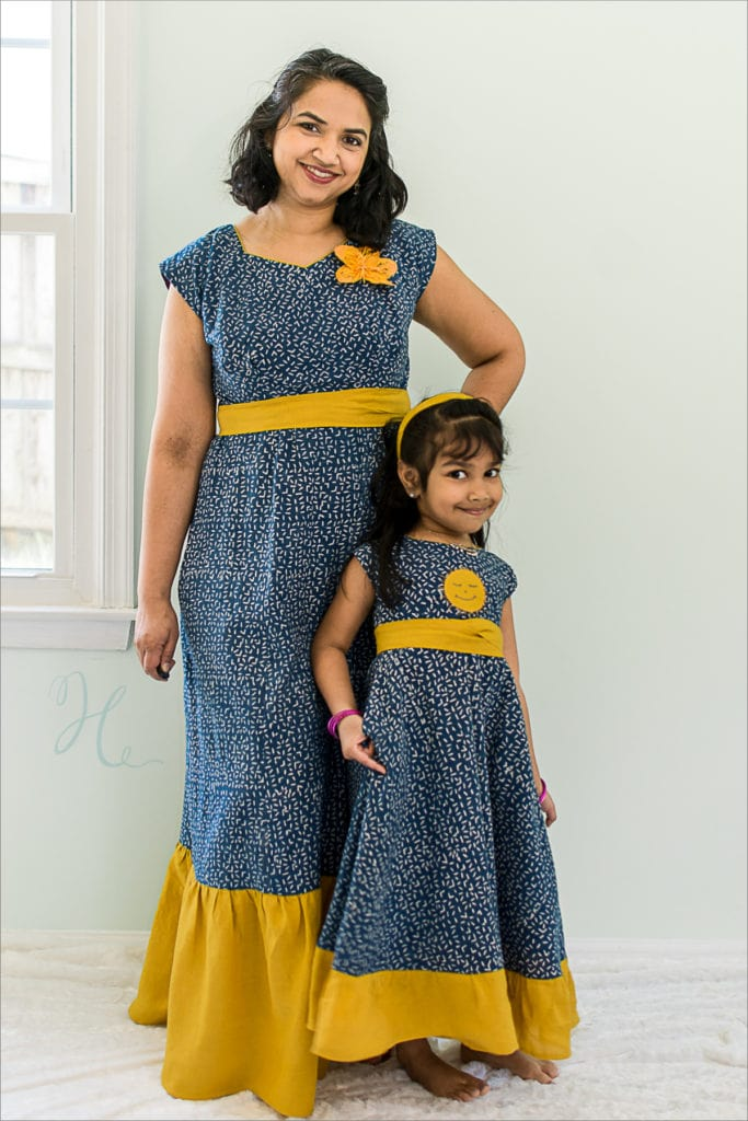 Stonemountain Sewists | Anjori's Block Print Dress (Times Two!)