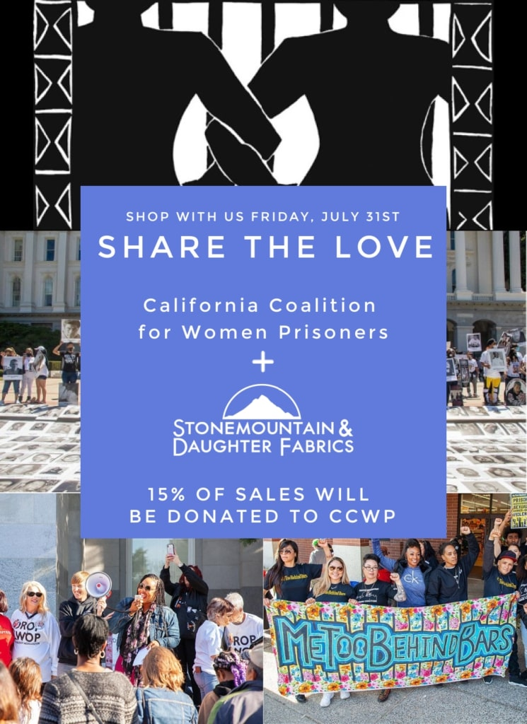 Share the Love! We're donating 15% of sales to the California Coalition for Women Prisoners