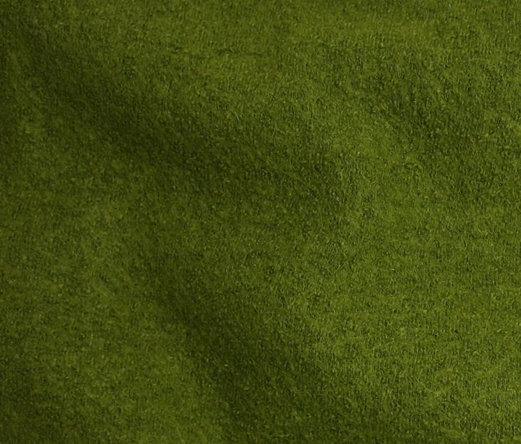 Boiled Wool/Viscose – Leaf Green