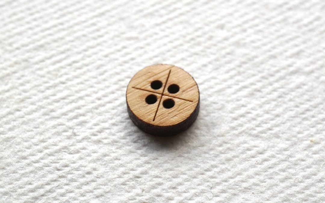 Arrow Mountain Bamboo Button – The Shirt Button