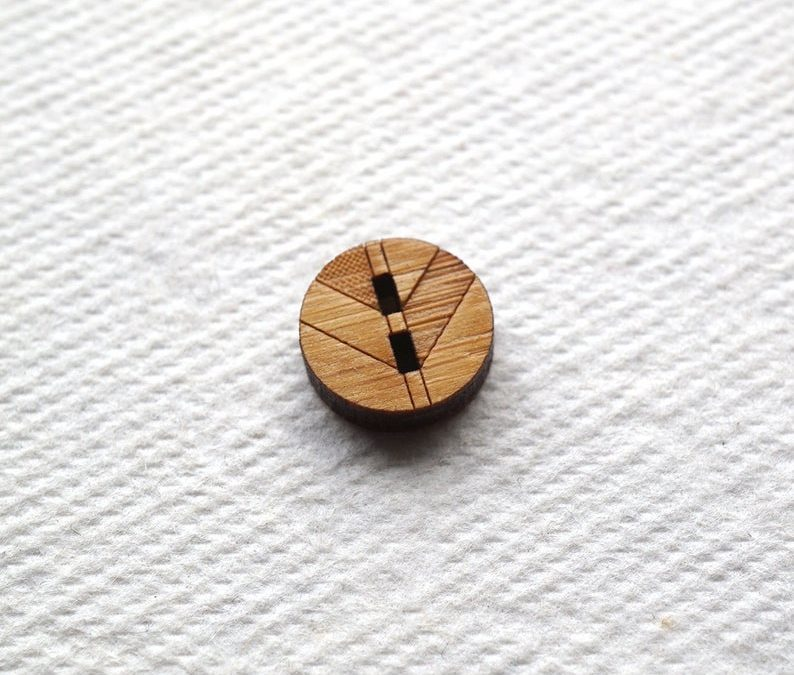 Arrow Mountain Bamboo Button – Chevron