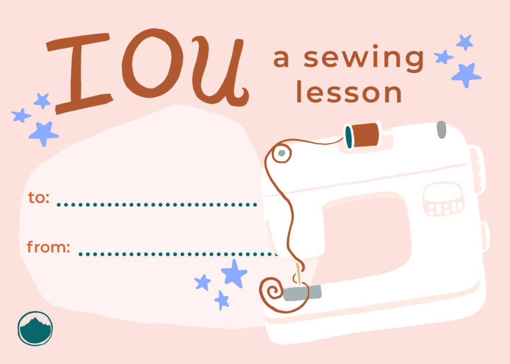 Give the Gift of Future Sewing: IOU Coupons!