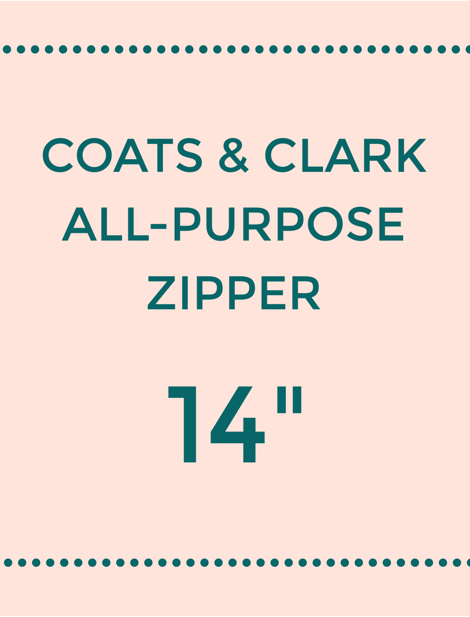 Coats /& Clark 14 inch RED All-Purpose Polyester Coil Zipper