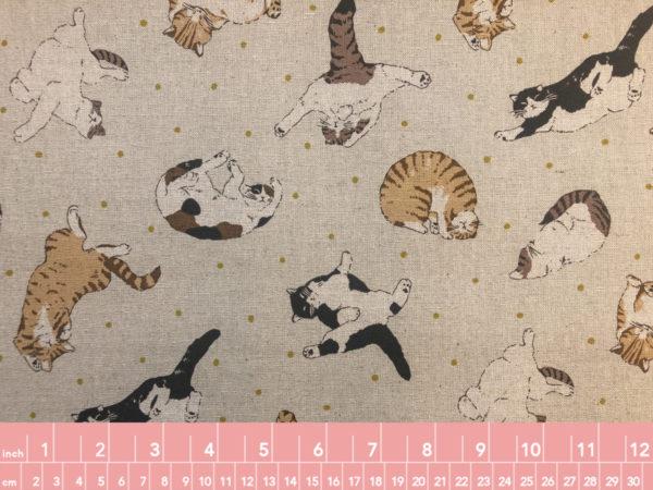 Japanese Cotton Linen Canvas Cats