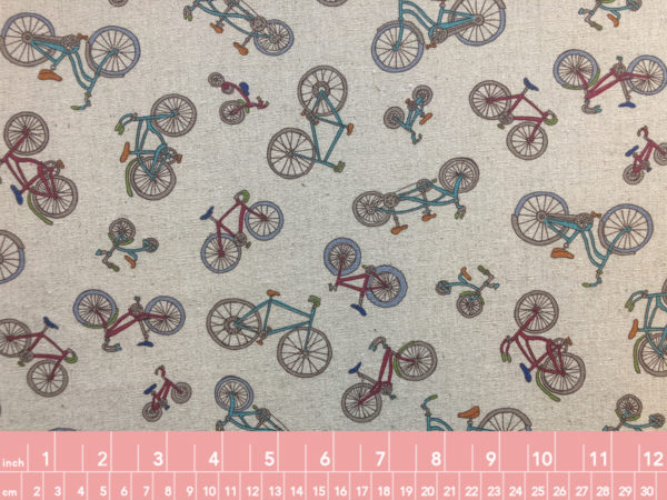 Japanese Cotton Linen Canvas Bicycles