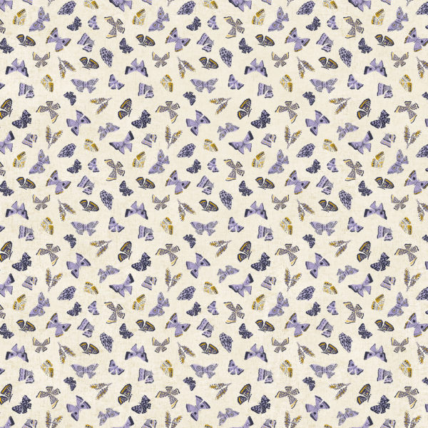 FIGO Cotton/Linen Canvas Wildflower Butterflies