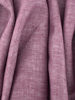 Birch Fabrics Organic Yarn Dyed Linen Berry Cobbler