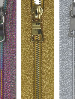 Metallic Zippers