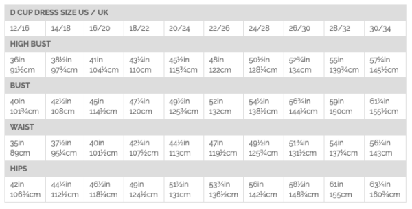 By Hand London D Cup Size Chart