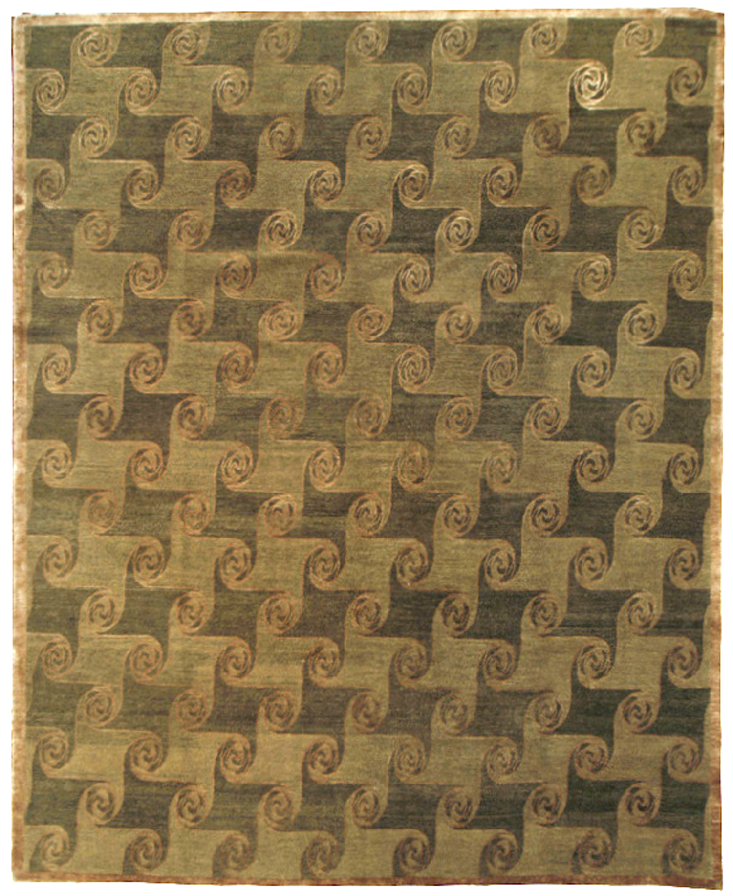 contemporary rug wool and silk 8 x