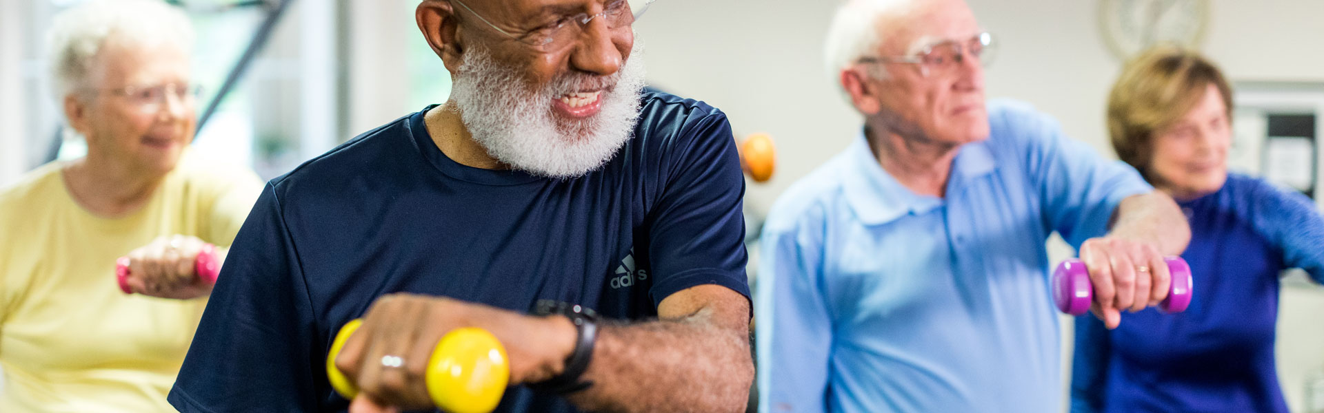 Senior Men Exercising at StoneRidge Independent Living