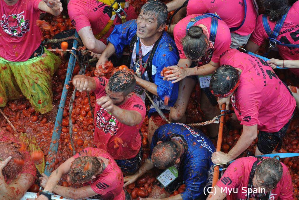 トマト祭りの様子