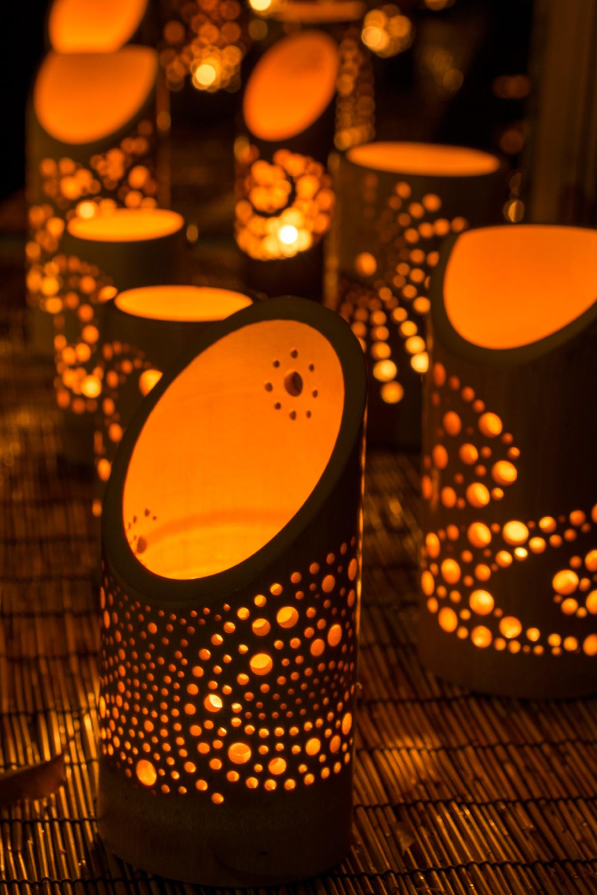 灯りの祭典 竹灯篭