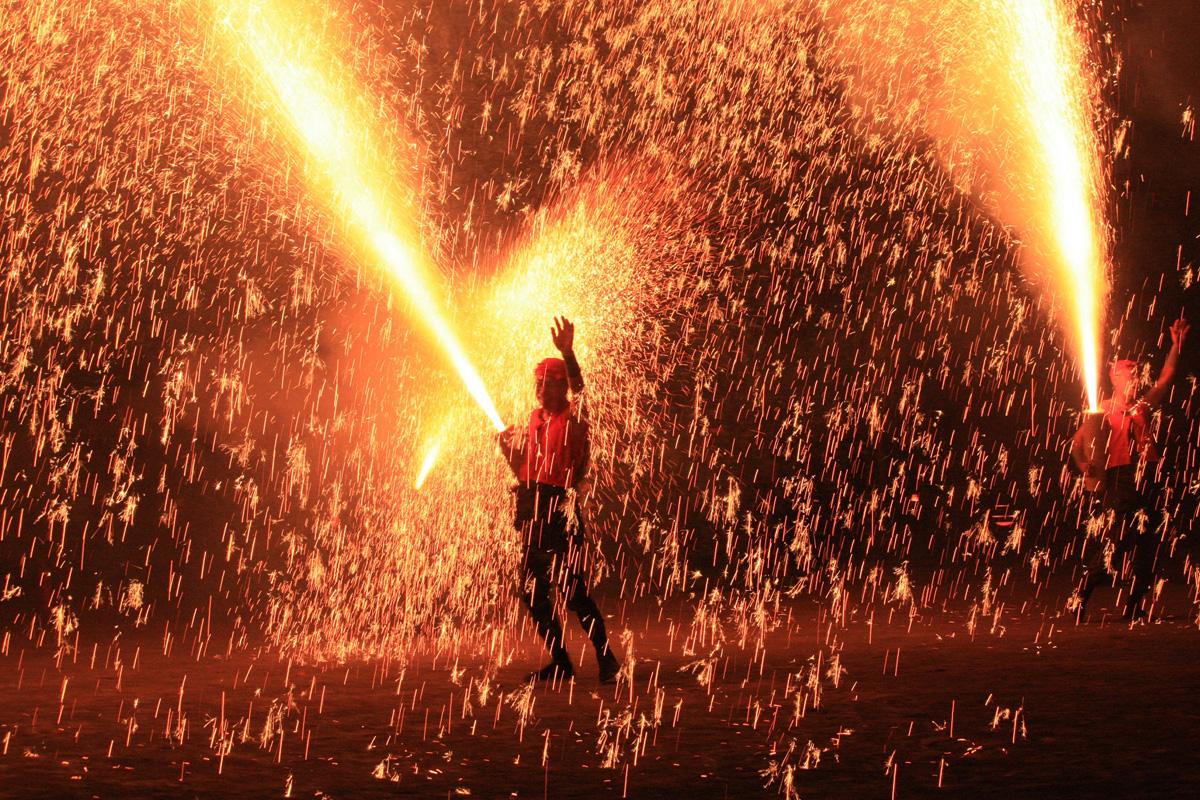 灯りの祭典 手筒花火