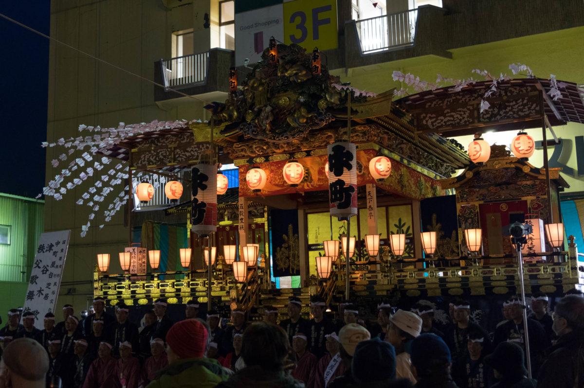 秩父夜祭 夜の屋台