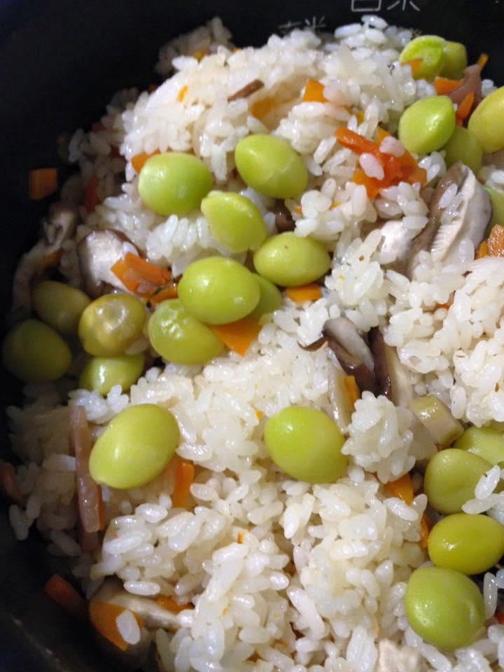 銀杏の炊き込みご飯