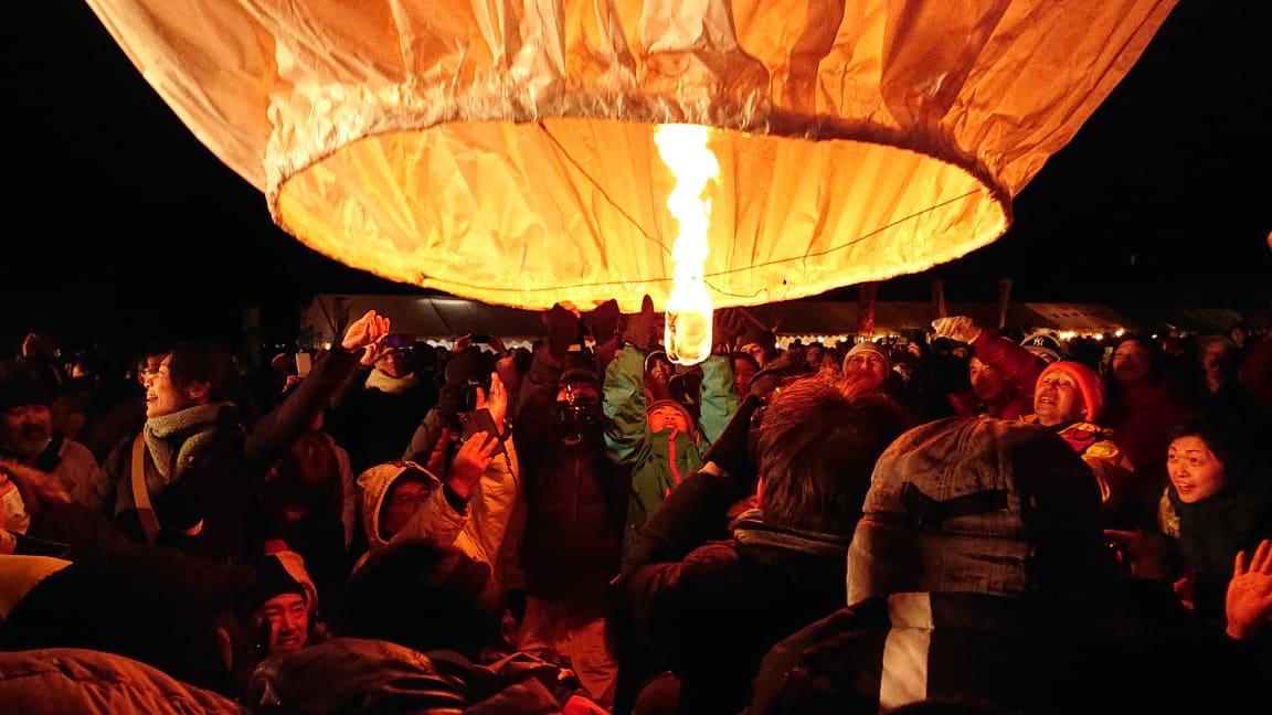 上桧木内の紙風船上げ2019!日本版コムローイに訪れた人々の反応は?【SNSまとめ】