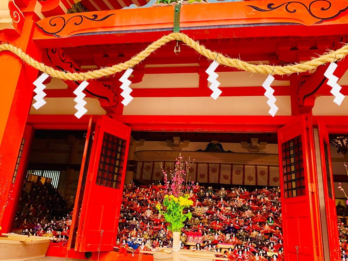 淡嶋神社の雛人形